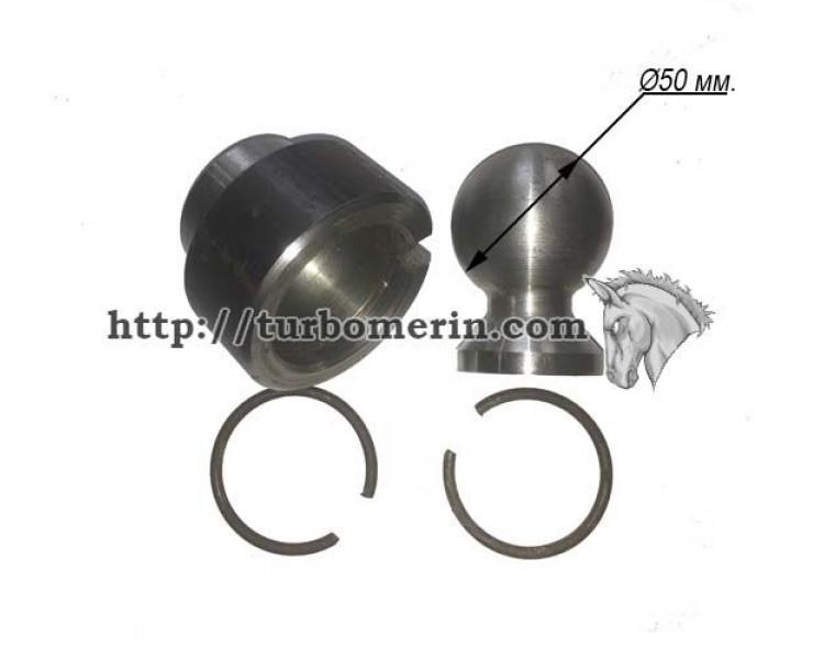 Крепление гидроцилиндра ПТС | Стакан Шар Стопорные кольца 50 мм.