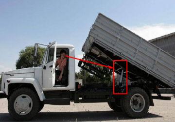 ГАЗ 3307 фото самосвала с поднятым кузовом