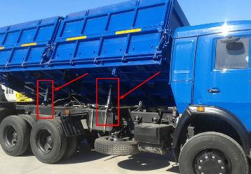 Самосвал КамАЗ 45144 с 4 штоковыми гидроцилиндрами