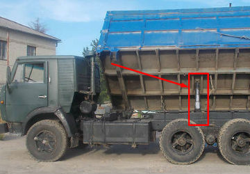 КамАЗ 55102 с гидроцилиндром старого оброзца