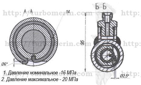 Гидроцилиндр ГА-80000 комбайна ДОН чертеж с размерами Вид в профиль