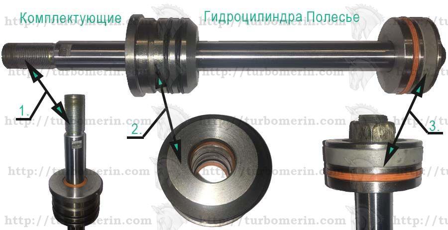 Комплектующие рулевого гидроцилиндр комбайна Полесье