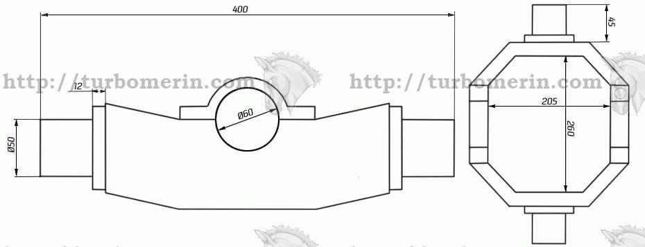 Качеля гидроцилиндра ЗИЛ Упор Размеры для установки цилиндра чертеж