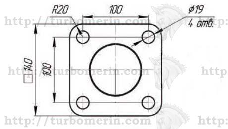 Площадка для крепления гидроцилиндра подъема кузова КамАЗ Размеры и чертеж