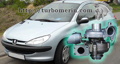 Peugeot 206 1.6 2003 2004 с турбиной 750030 753420 740821