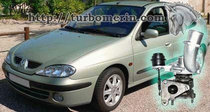 Renault Megane 1.9 dCi 2001 с турбиной 717345 751768 703245