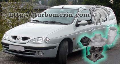Renault Megane 1.9 1998 1999 2000 2001 с турбиной 54399700022